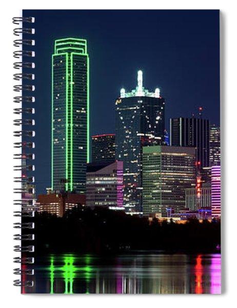 Dallas Colors Pano 2015 Spiral Notebook