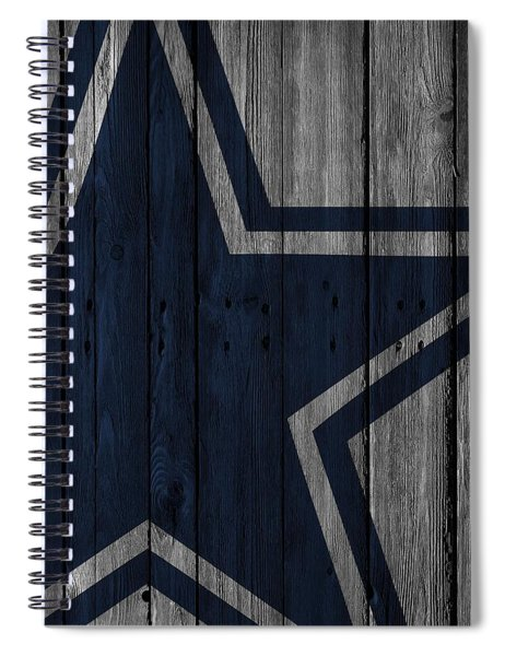 Dallas Cowboys Wood Fence Spiral Notebook