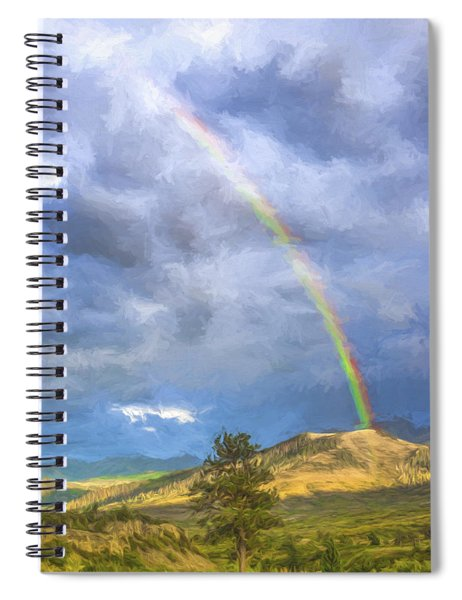 Dallas Divide Rainbow II Spiral Notebook