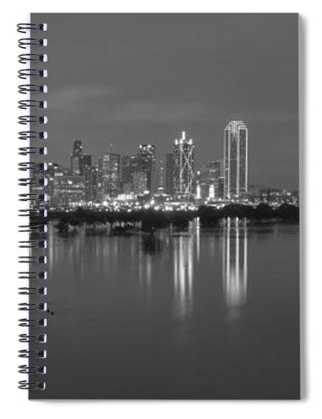 Dallas Skyline Trinity Black And White Spiral Notebook