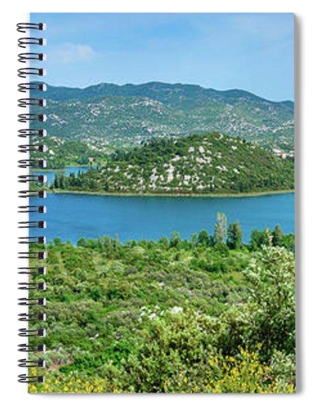Dalmatian Coast Panorama, Dalmatia, Croatia Spiral Notebook