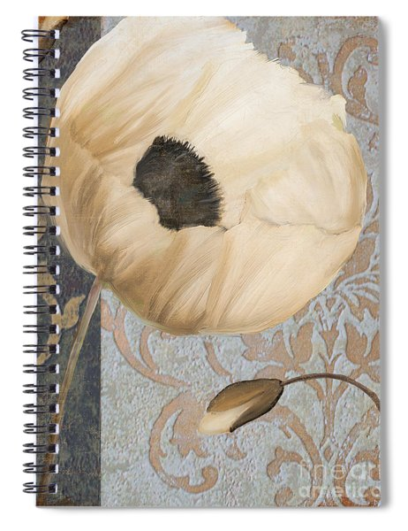 Damask Poppy Spiral Notebook