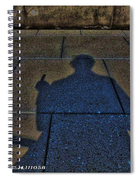 Damn Shadow Figure Spiral Notebook