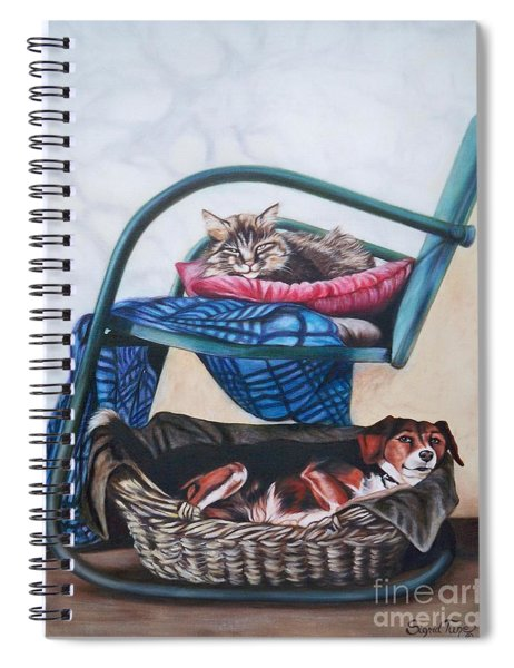 Chloe The Flying Lamb Productions      Damsel And Gypsy Spiral Notebook