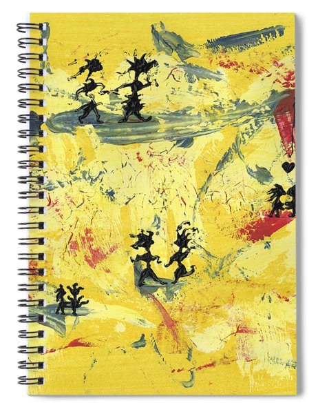 Spiral Notebook featuring the painting Dance Art Creation 1d9 by Manuel Sueess