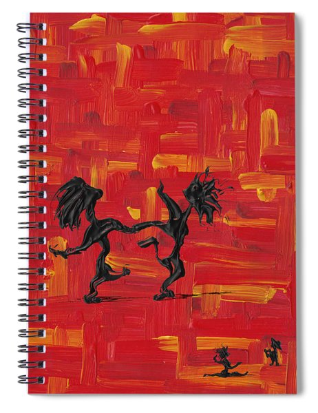 Spiral Notebook featuring the painting Dance Art Creation 3d9 by Manuel Sueess