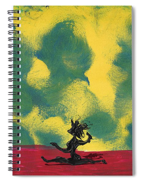 Spiral Notebook featuring the painting Dance Art Dancer by Manuel Sueess