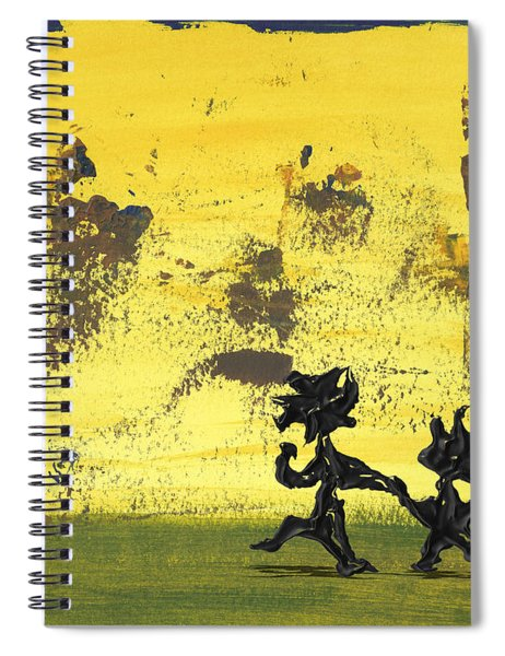 Spiral Notebook featuring the painting Dance Art Dancing Couple 147 by Manuel Sueess