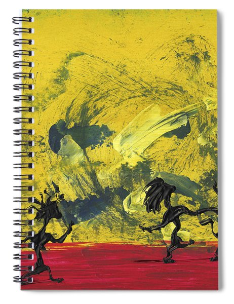 Spiral Notebook featuring the painting Dance Art Dancing Couple 22 by Manuel Sueess