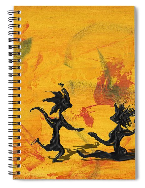 Spiral Notebook featuring the painting Dance Art Dancing Couple 238 by Manuel Sueess