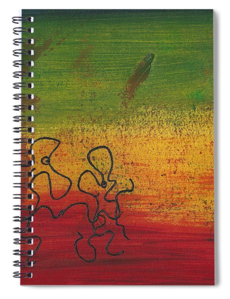 Dance Art Dancing Couple 28b Spiral Notebook