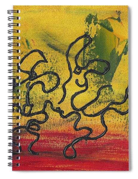Spiral Notebook featuring the painting Dance Art Dancing Couple 57 by Manuel Sueess