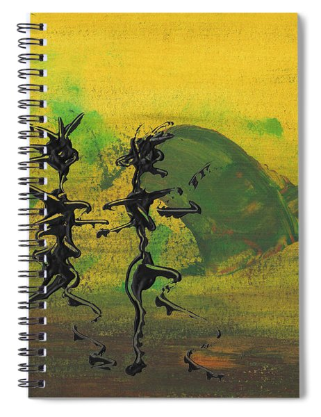 Spiral Notebook featuring the painting Dance Art Dancing Couple Ix by Manuel Sueess
