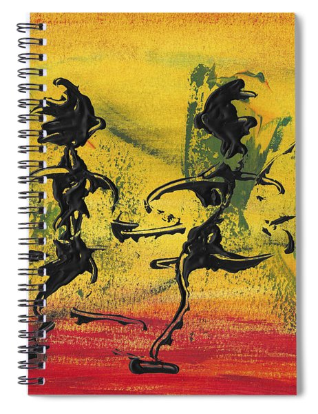 Spiral Notebook featuring the painting Dance Art Dancing Couple Viii by Manuel Sueess