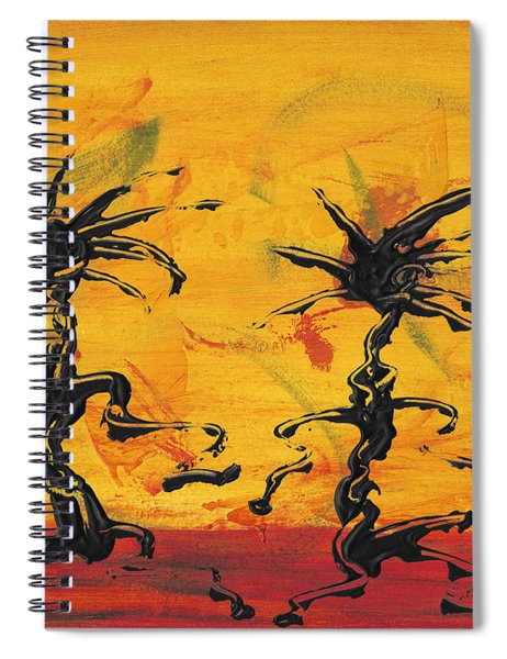 Spiral Notebook featuring the painting Dance Art Dancing Couple X by Manuel Sueess