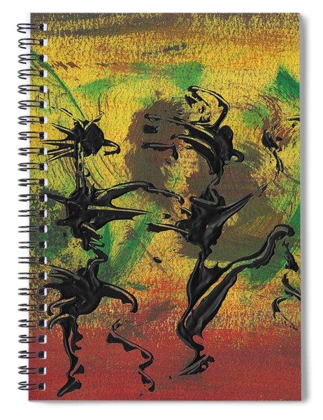 Spiral Notebook featuring the painting Dance Art Dancing Couple Xi by Manuel Sueess
