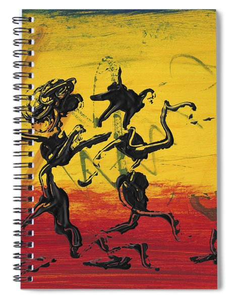 Spiral Notebook featuring the painting Dance Art Dancing Couple Xii by Manuel Sueess