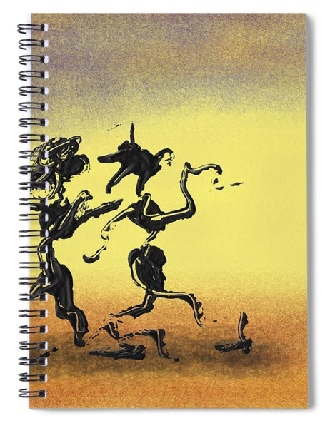 Spiral Notebook featuring the mixed media Dance I by Manuel Sueess