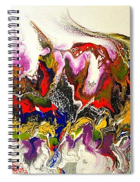 Dance Of Flames Spiral Notebook