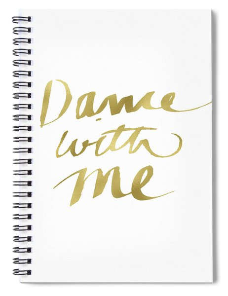 Dance With Me Gold- Art By Linda Woods Spiral Notebook