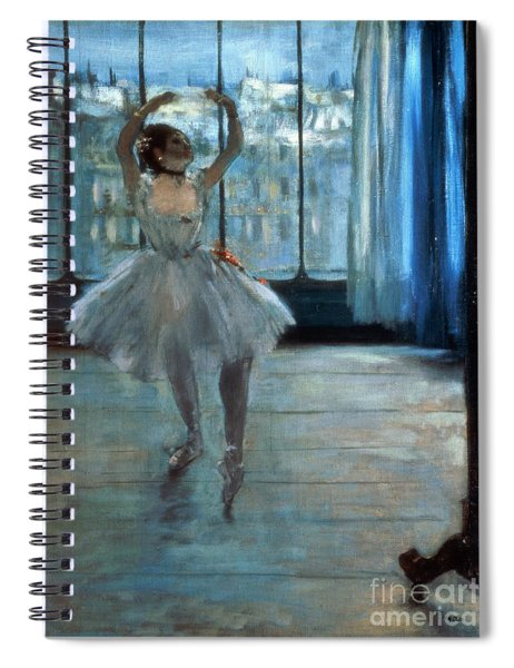 Dancer In Front Of A Window Spiral Notebook by Edgar Degas