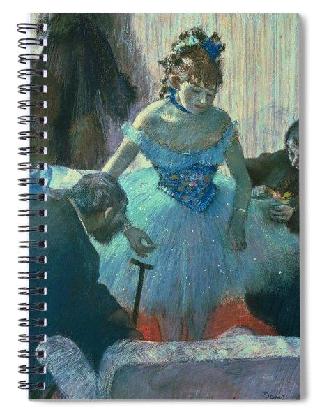 Dancer In Her Dressing Room Spiral Notebook by Edgar Degas