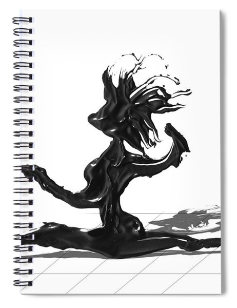 Spiral Notebook featuring the painting Dancer by Manuel Sueess