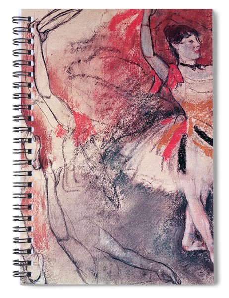 Dancer With Tambourine Or Spanish Dancer Spiral Notebook