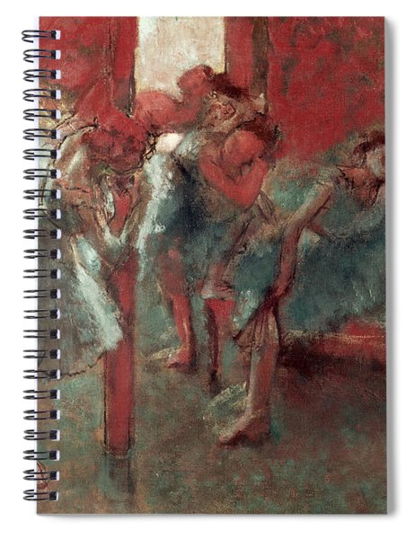 Dancers At Rehearsal Spiral Notebook by Edgar Degas