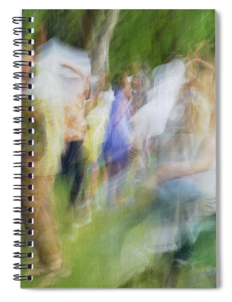 Dancing At The Music Festival Spiral Notebook