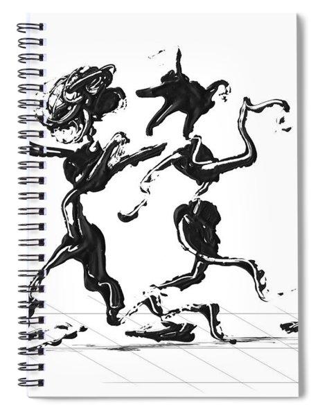 Spiral Notebook featuring the digital art Dancing Couple 1 by Manuel Sueess