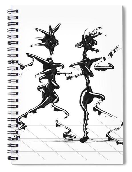 Spiral Notebook featuring the digital art Dancing Couple 2 by Manuel Sueess