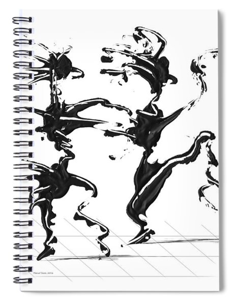 Spiral Notebook featuring the digital art Dancing Couple 4 by Manuel Sueess