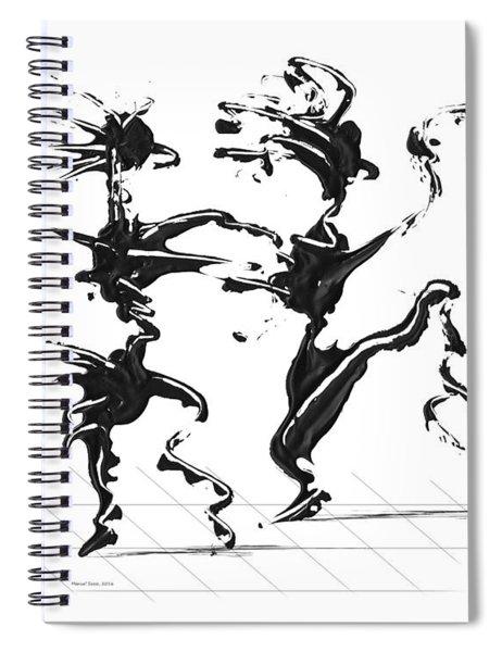 Dancing Couple 4 Spiral Notebook by Manuel Sueess