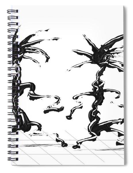 Spiral Notebook featuring the digital art Dancing Couple 5 by Manuel Sueess