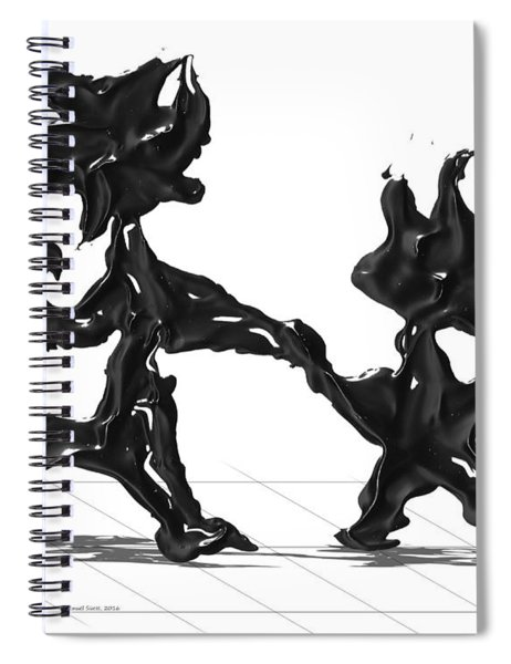 Spiral Notebook featuring the painting Dancing Couple 6 by Manuel Sueess