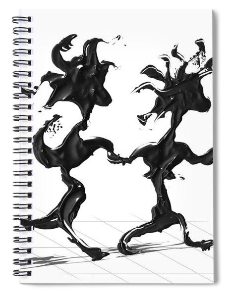 Spiral Notebook featuring the painting Dancing Couple 7 by Manuel Sueess
