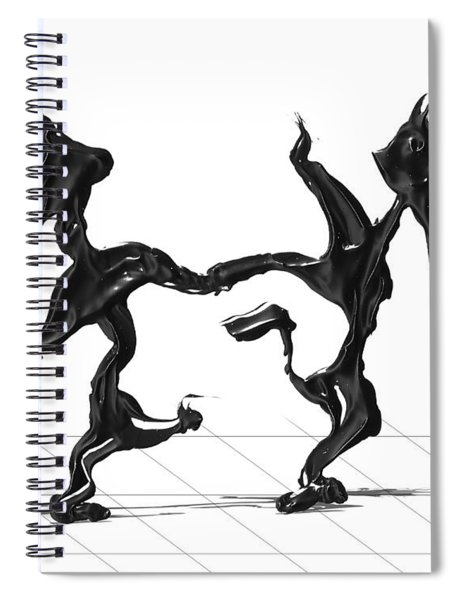 Spiral Notebook featuring the painting Dancing Couple 8 by Manuel Sueess