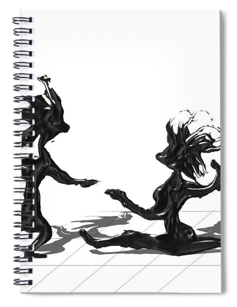 Spiral Notebook featuring the painting Dancing Couple 9 by Manuel Sueess