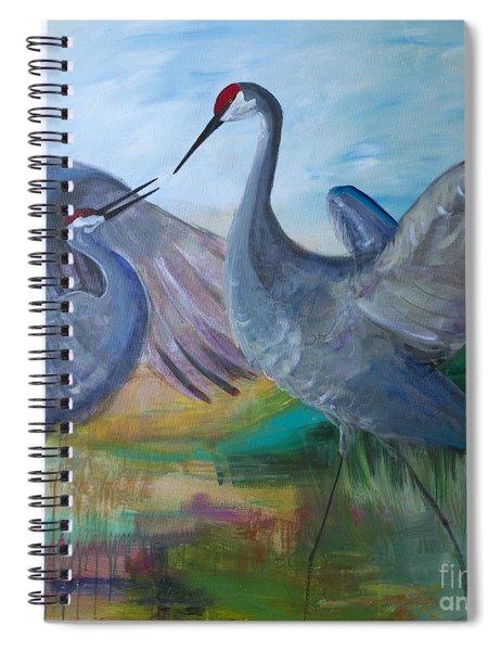 Dancing Cranes Spiral Notebook