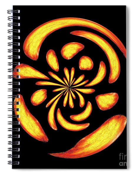 Dancing Fire Balls Spiral Notebook