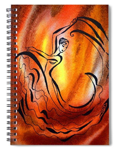 Dancing Fire I Spiral Notebook