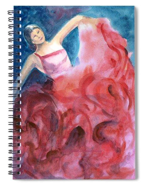 Dancing Girl Spiral Notebook