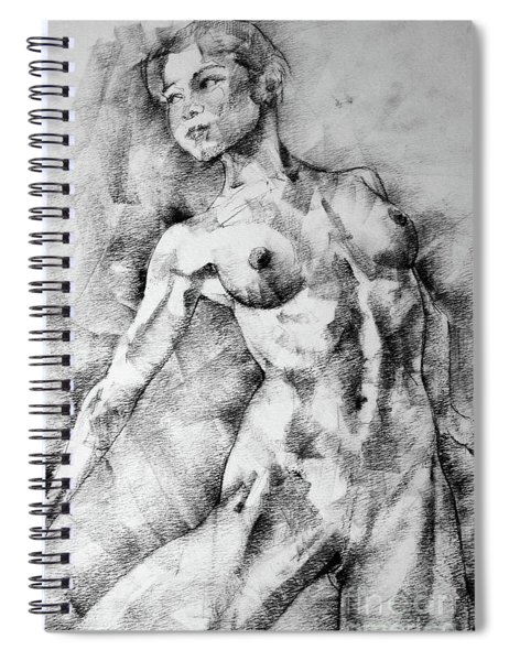 Dancing Girl Drawing Spiral Notebook