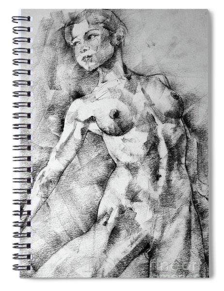 Dancing Girl Drawing Spiral Notebook