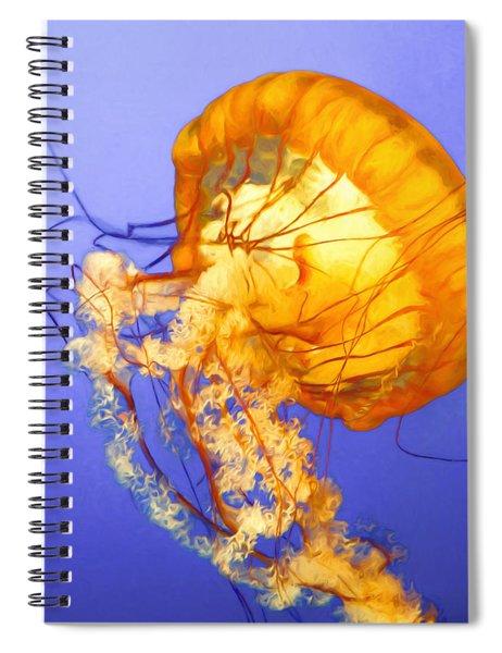 Dancing Jellyfish Spiral Notebook