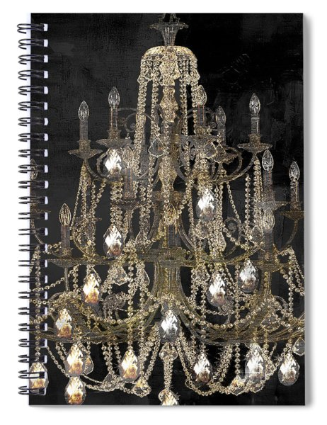 Lit Chandelier Spiral Notebook