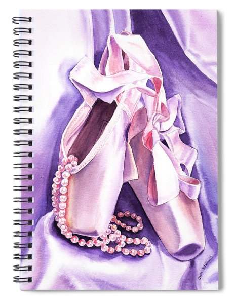 Dancing Pearls Ballet Slippers  Spiral Notebook