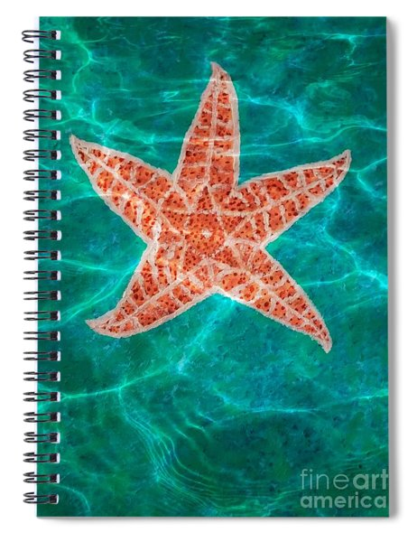 Dancing Starfish Spiral Notebook