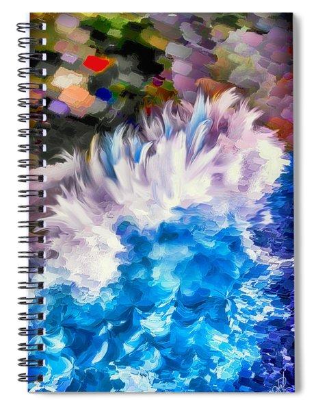Dancing Swells Spiral Notebook